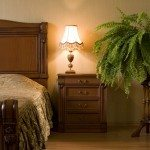 Classical interior of a bedroom. Natural fern.