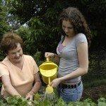 Teenage gardener