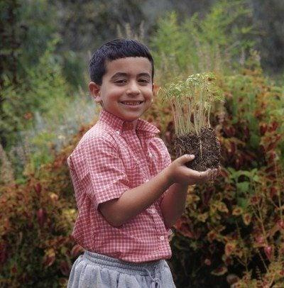 school age gardener