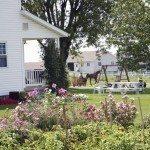 Amish Country Garden Scene