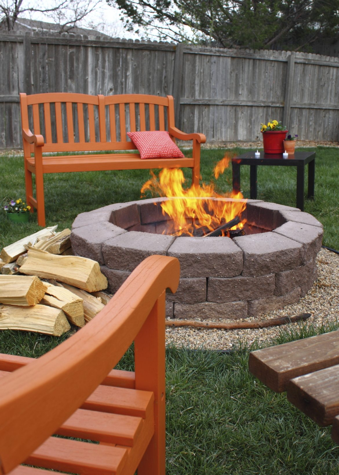 Outdoor Bed and Fire Pit Video
