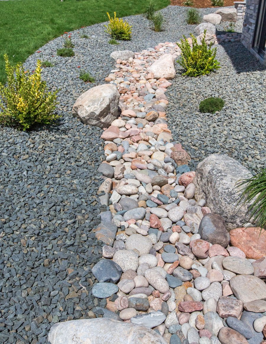 Dry Stream Beds For Drainage How To Build A Creek Bed In The
