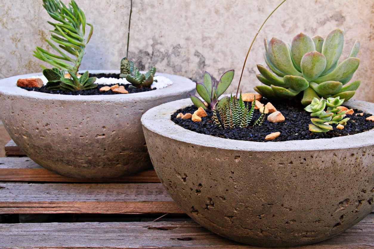 How To Make Concrete Planters Learn