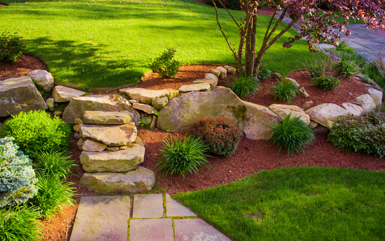 Landscaping Ideas Using Rocks How To Landscape With Stones