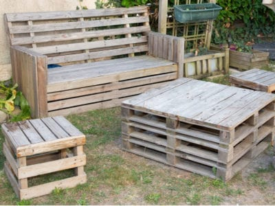 Outdoor Pallet Furniture Ideas Making, How To Make Simple Outdoor Furniture