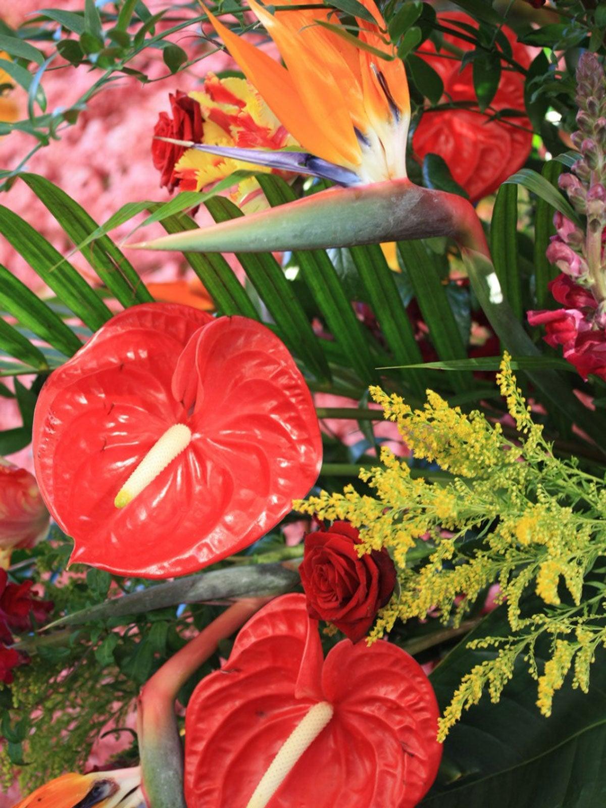 Potted Tropical Arrangements Tropical Centerpieces For Summer